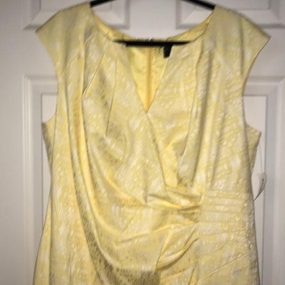 Dress Barn Dresses & Skirts - Dress Barn beautiful yellow split w/V neck dress